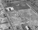 Aerial view of campus, Fall 1958