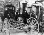 Mechanic Arts class on wagon making, circa 1900