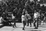 "Students doing the ""surf"" dance on the Student Union plaza, early 1970s"