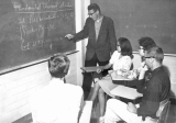 Professor teaching calculus, 1960s