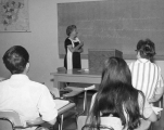 Professor Clara Ingold teaching German class, circa 1968