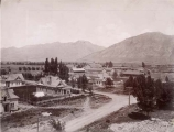 View of northeast section of Utah Agricultural College campus circa 1916.