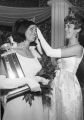 Crowning the new Homecoming queen, Linda Jacobsen, 1966-1967