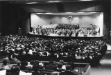 An orchestra and chorus concert, 1960s