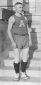 Basketball forward Glenn Sumsion in uniform, 1920