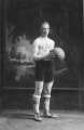 Basketball player Reul Evans in uniform, 1917
