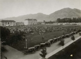 Farmers & homemakers encampment on the Quad, circa 1924