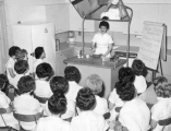 Demonstration in a home economics class, 1950s