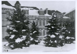 Winter scene of Old Main building, south wing, from the south, 1905