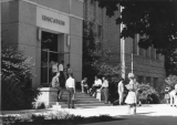 Front entrance to Education building, 1960s