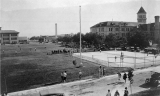 Baseball game on the Quad, 1920
