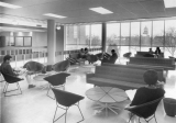 View of lounge on second floor of Merrill Library, 1960s