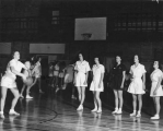 Women's basketball class in the Smart Gymnasium, late 1950s