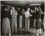 Dance held in the Temporary Union Building (TUB) circa 1950.