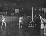 Badminton class in the Smart Gymnasium, 1950s