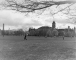 View looking across Quad toward Old Main, late 1950s