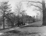 Old Main Hill looking northwest across the hill, 1950s