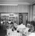 Students in the library of the L.D.S. Institute