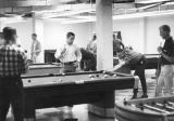 Students playing pool, 1960s