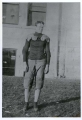 Edgar B. Brossard in football gear, 1906