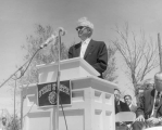 Ground breaking ceremony speaker, May 2, 1961