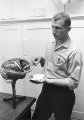 Instructor discussing parts of the brain, 1960s
