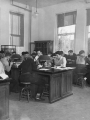 Bacteriology lab class, 1940s