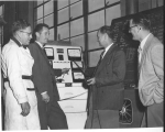 Demonstrating a vehicle analyzer, 1950s