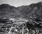 Aerial view, Summer 1966, Utah State University campus.