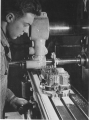 Student operating milling machine, 1948