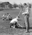 Surveying on the Quad, 1950s