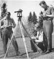 Surveying class, 1940s