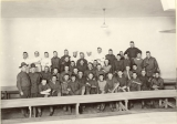 Group of men possibly at military camp, circa 1918