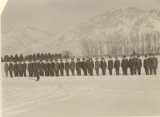 ROTC military formations on the Quad, circa 1918