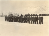 ROTC military formation on the Quad, circa 1918