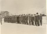 ROTC military formation with rifles, circa 1918
