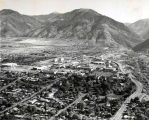 Aerial view, Summer 1970, Utah State University campus.
