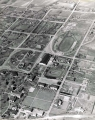 Aerial view of campus, circa 1942