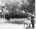 ROTC commissioning ceremony, 1955