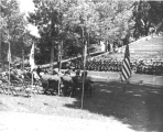 ROTC commissioning exercises in the USAC amphitheatre, circa 1953