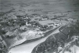 Aerial view of campus, winter 1939