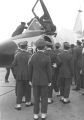 ROTC cadets examining an U.S. Air Force airplane