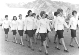 Angel Flight members marching, mid-1960s