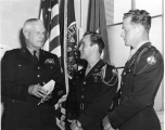 Colonel E. W. Timberlake with two ROTC officers, early 1950s