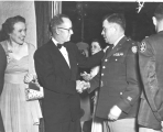 Governor J. Bracken Lee and his wife at the Military Ball, circa 1953