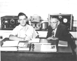 Dr. Wann and Joe Walley in the Radioactive Lab, 1950s