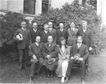 Visiting faculty members at the first session of the National Summer School, 1924