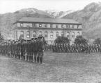 ROTC military formation on the Quad, 1938