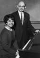 Irving Wassermann, Professor and Head of the Department of Music, with his daughter Ellen...