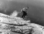 Student skiing on Beaver Mountain, 1950s